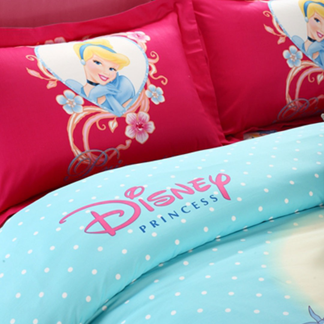 Disney princess bedding set queen size pillow cases comforter and pillow cases