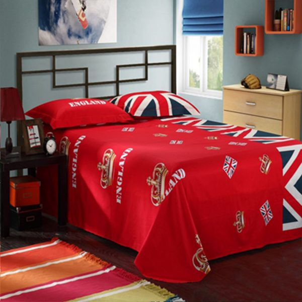 British flag bedding set flat sheet
