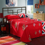 British flag bedding set flat sheet