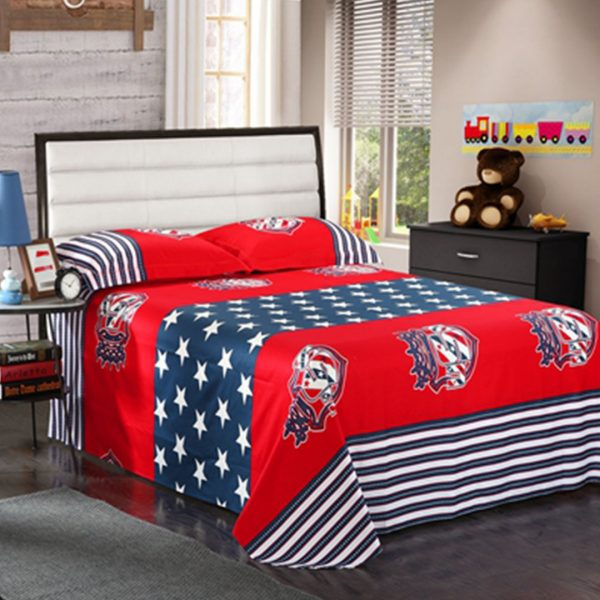 American flag bedding set flat sheet