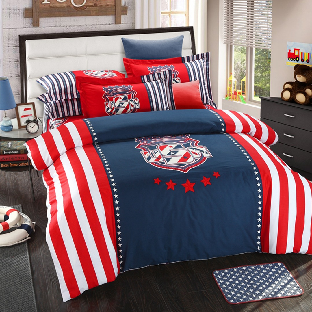 american flag bedding set queen size