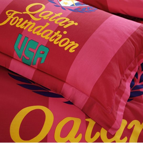 USA Tennis Qatar Foundation bedding set pillow case