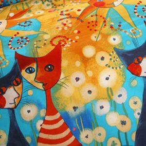 5pcs elegant style colorful cats bedding set (3)