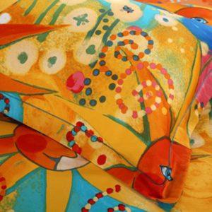 5pcs elegant style colorful cats bedding set (4)
