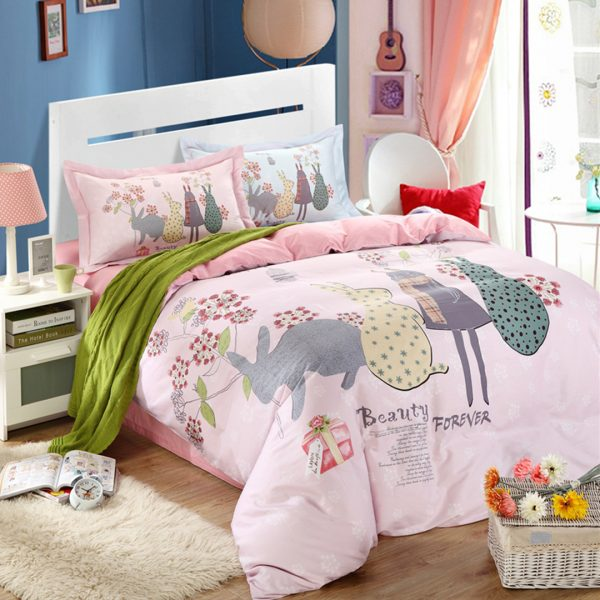 Elegant style Beauty forever bedding set