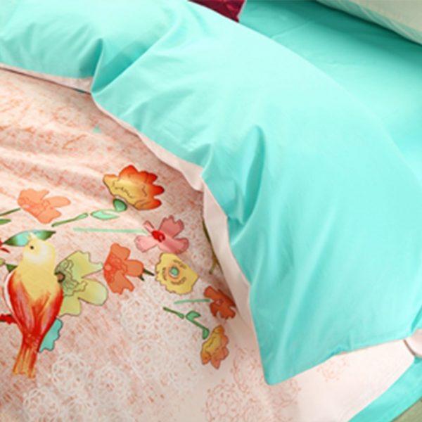 Elegant style Light Pink floral print bedding set 4 600x600 - Elegant style Light Pink floral print bedding set