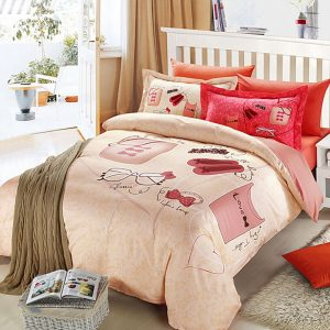 Elegant style cream color bedding set 1