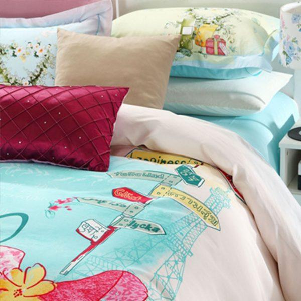 Pink floral print bedding set 3 600x600 - Pink floral print bedding set