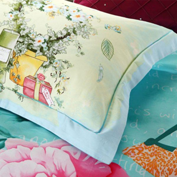Pink floral print bedding set 5 600x600 - Pink floral print bedding set