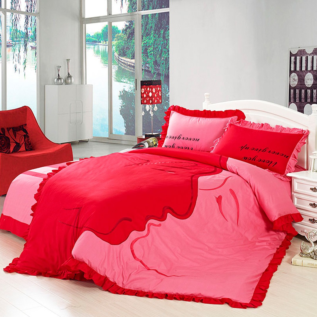 Romantic bedding set Twin and queen size