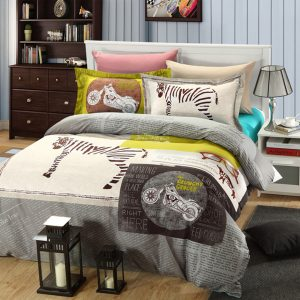 The crunchy grocer Zebra print bedding set