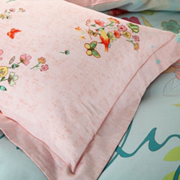 Two color shades of beautiful floral bedding set 4 600x600 - Discount floral girls bedding set Two color shades of beautiful