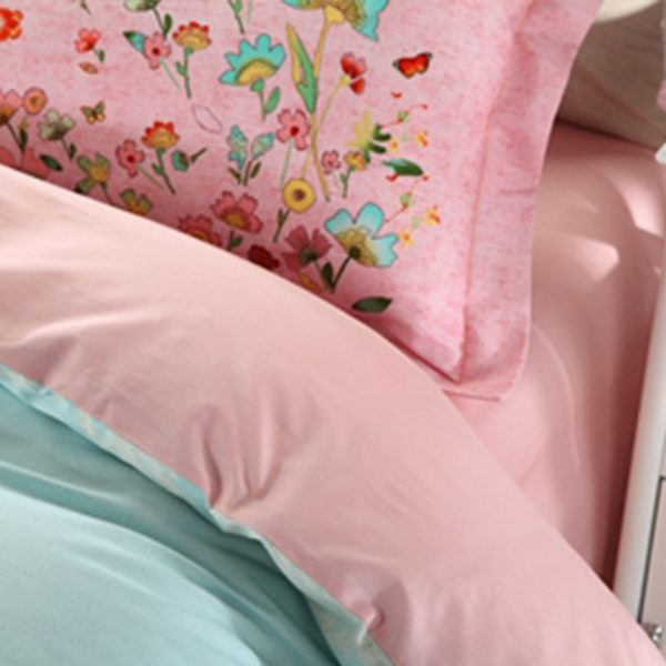 Two color shades of beautiful floral bedding set 5 600x600 - Discount floral girls bedding set Two color shades of beautiful