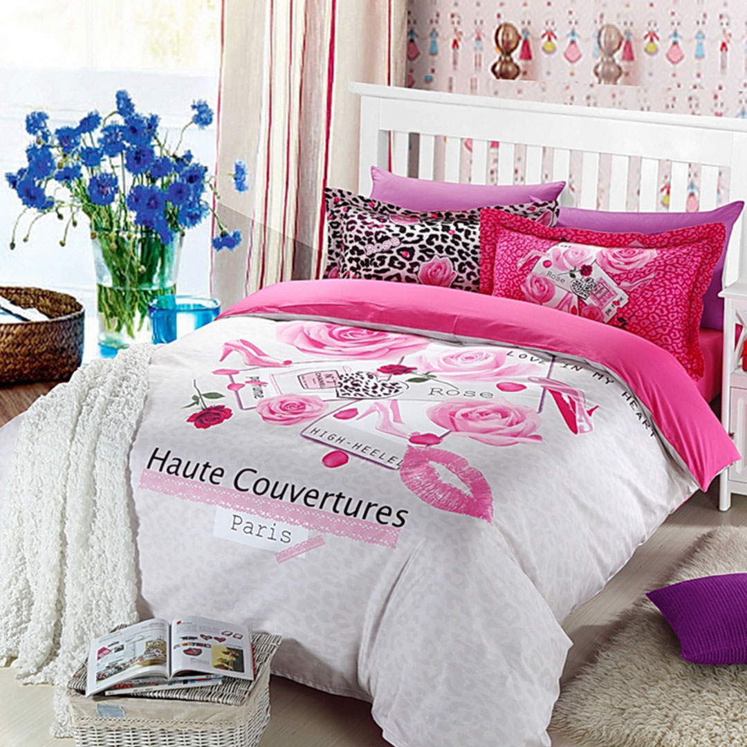haute couvertures paris rose 5pcs bedding set EBeddingSets