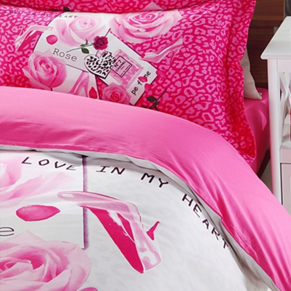 haute couvertures paris rose 5pcs soft cotton bedding set 3 600x600 - haute couvertures paris rose 5pcs soft cotton bedding set
