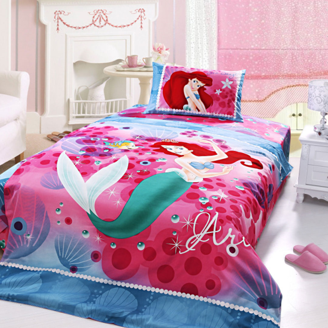 Ariel princess bedding set twin size