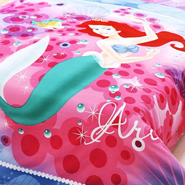 Ariel princess bedding twin size 4pcs set2 600x600 - Ariel princess bedding set twin size