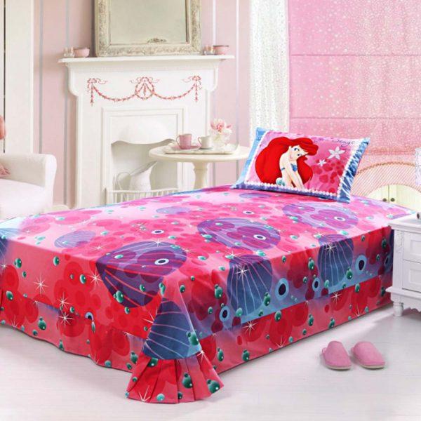 Ariel princess bedding twin size 4pcs set4 600x600 - Ariel princess bedding set twin size