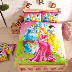 Aurora, snow white & Cinderella Bedding set