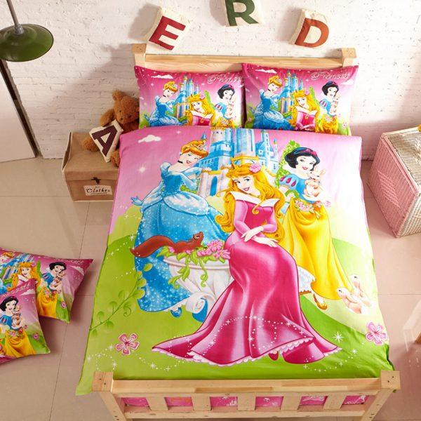 Aurora, snow white & Cinderella Bedding set