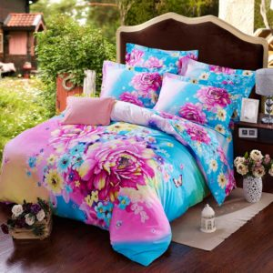Blue Rose Design Duvet Cover Sets