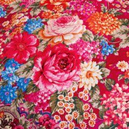 Brushed Fabric Floral Bed Set