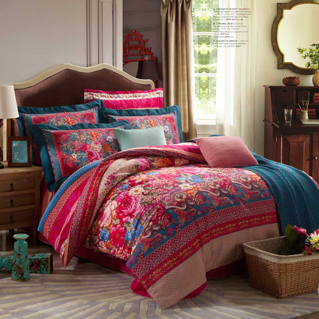 Brushed Fabric Floral Bed Set Ebeddingsets