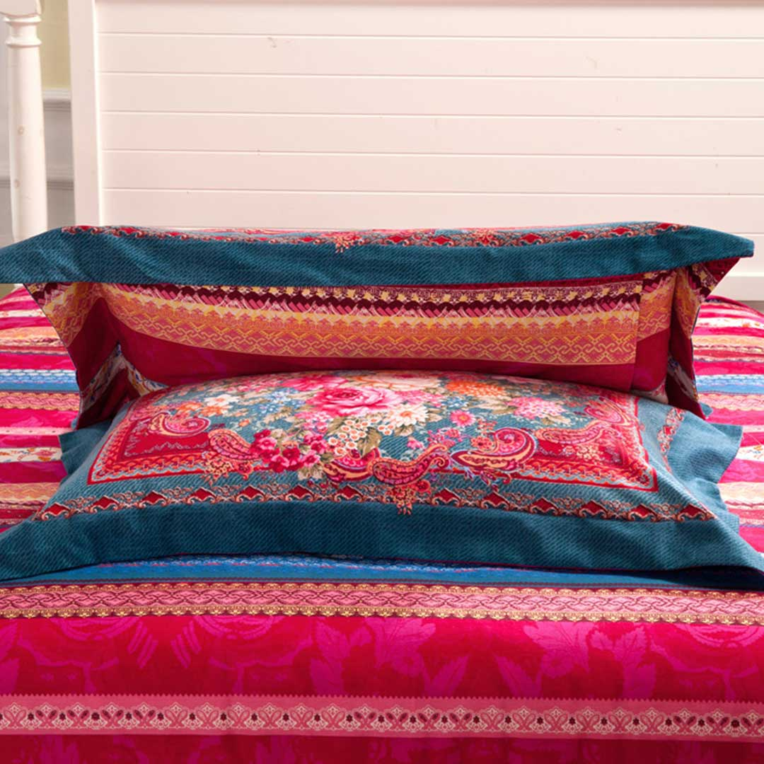Brushed fabric floral bed set ebeddingsets for Bedding fabric bedding