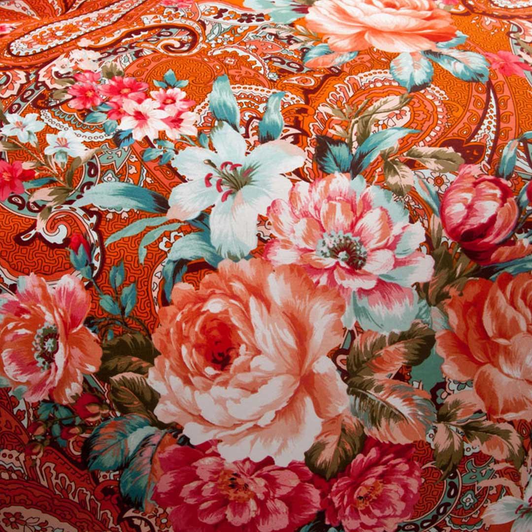 Brushed Luxury Floral Bed Set
