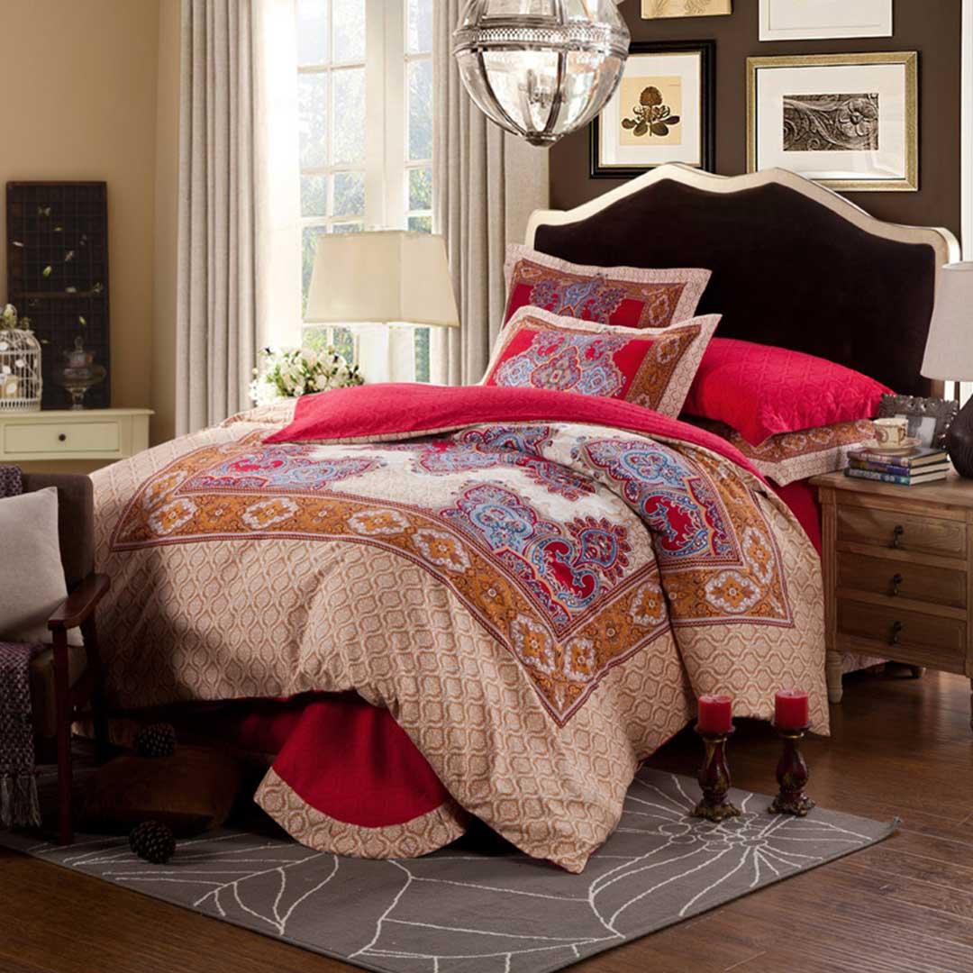Decorated Flower Design Comforter Sets