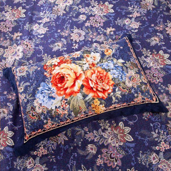 Floral Cross Bed Set - 5Pcs