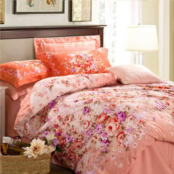 Floral Design Romantic Bed Set