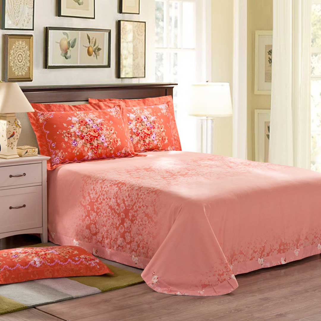Floral design romantic bed set ebeddingsets Romantic bed designs
