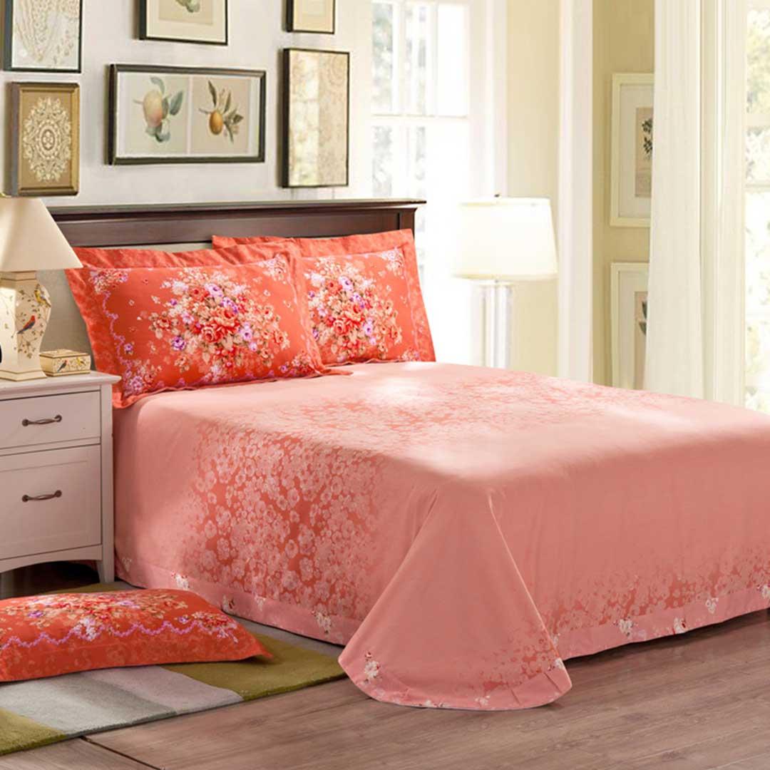 Floral Design Romantic Bed Set
