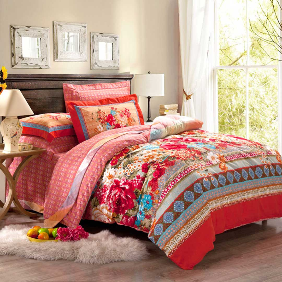 Floral vector luxury bedding set ebeddingsets for Designer bed pics