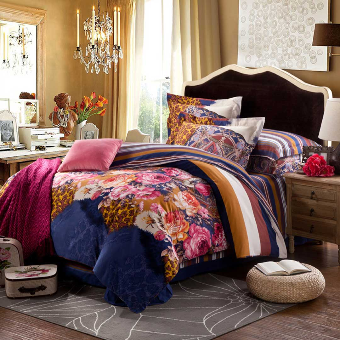 Flowery Design New Comforter Sets