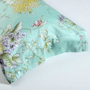 Green Floral Egyptian Cotton Queen Size Bedding Sets