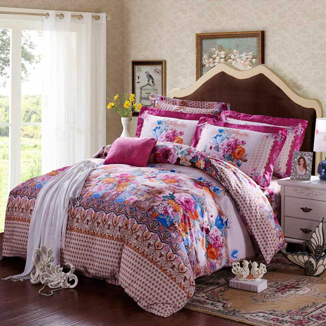 Floral design comforter sets ebeddingsets for Bed set designs