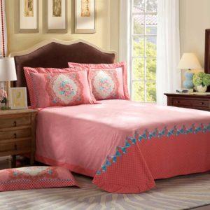 Pink Floral Design Full Bed Sets