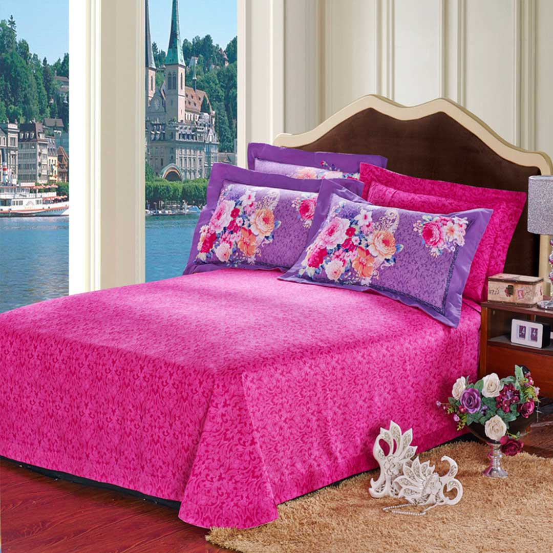 Pink & Purple Floral Duvet Cover Sets