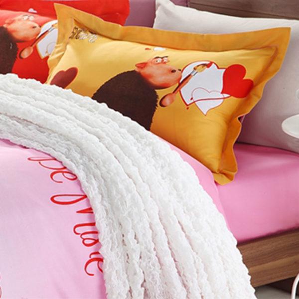 Pink Sheep Bed Set