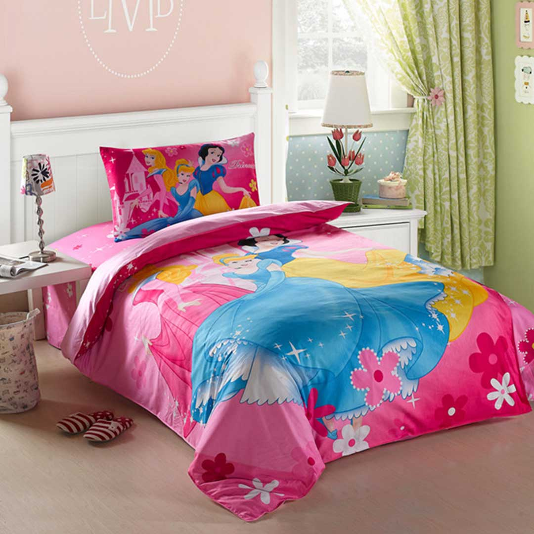 Princess girls bedding twin size set ebeddingsets for Twin size beds for girls