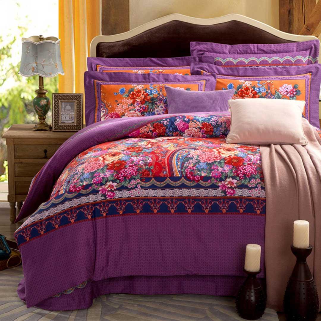 Purple base vector bedding sets ebeddingsets for Bedding violet