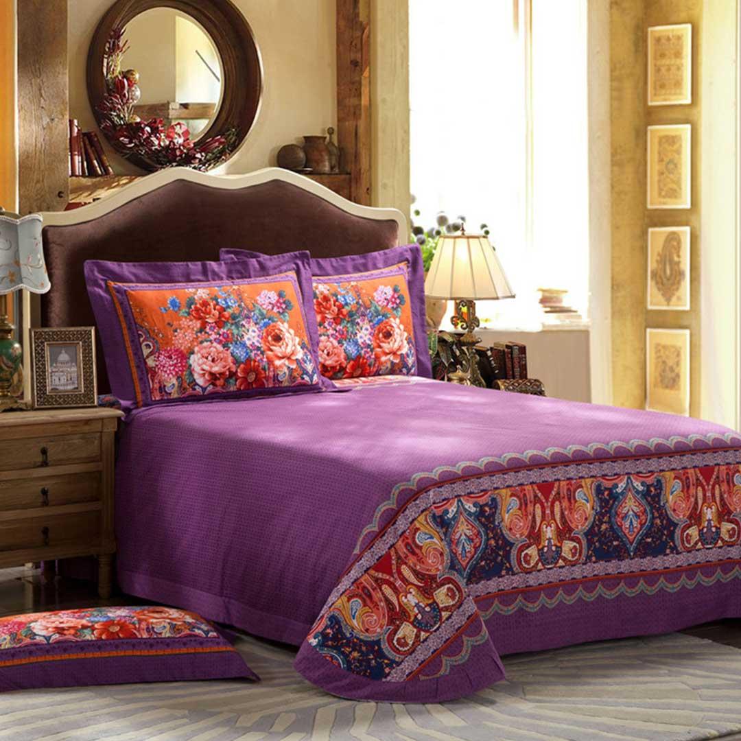 Purple Base Vector Bedding Sets