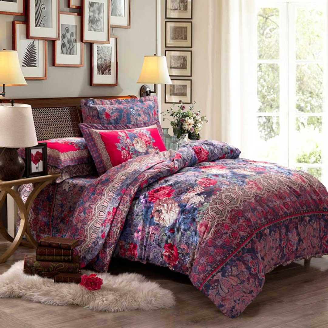 Romantic Classic Floral Duvet Cover Set