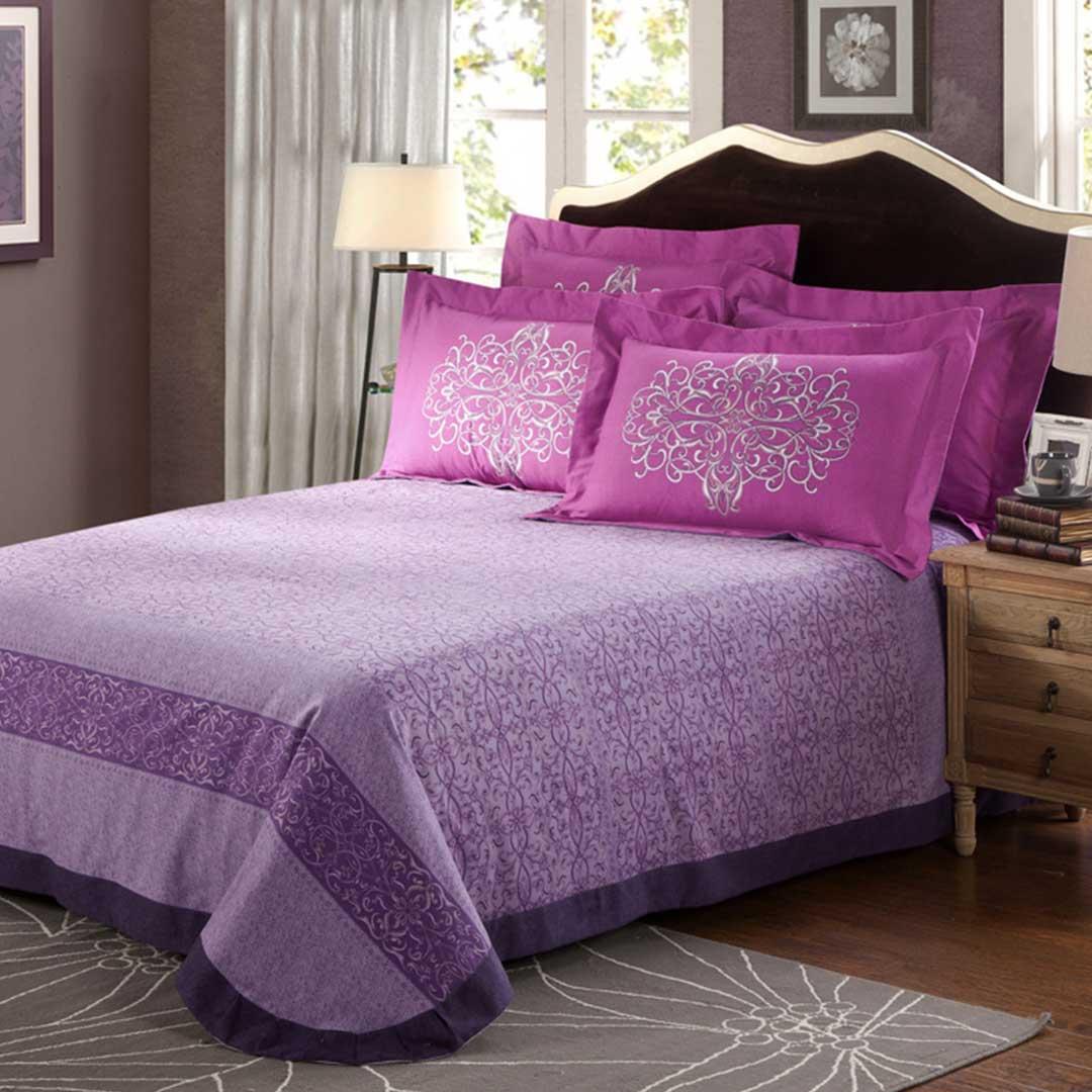 violet purple floral print comforter sets ebeddingsets