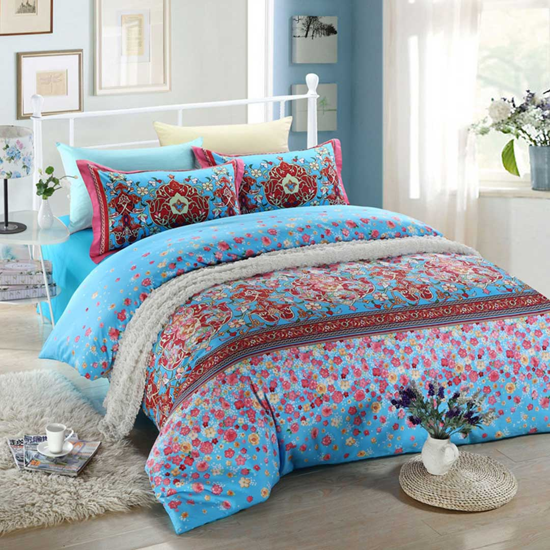 pink bedroom sets blue and pink floral bedding set ebeddingsets 12850
