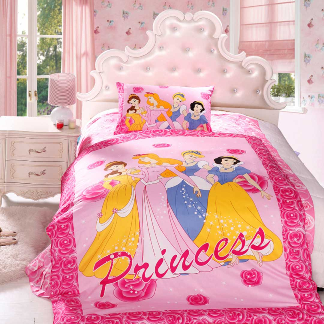 Lovely Disney Princess Bedding Set Twin Size