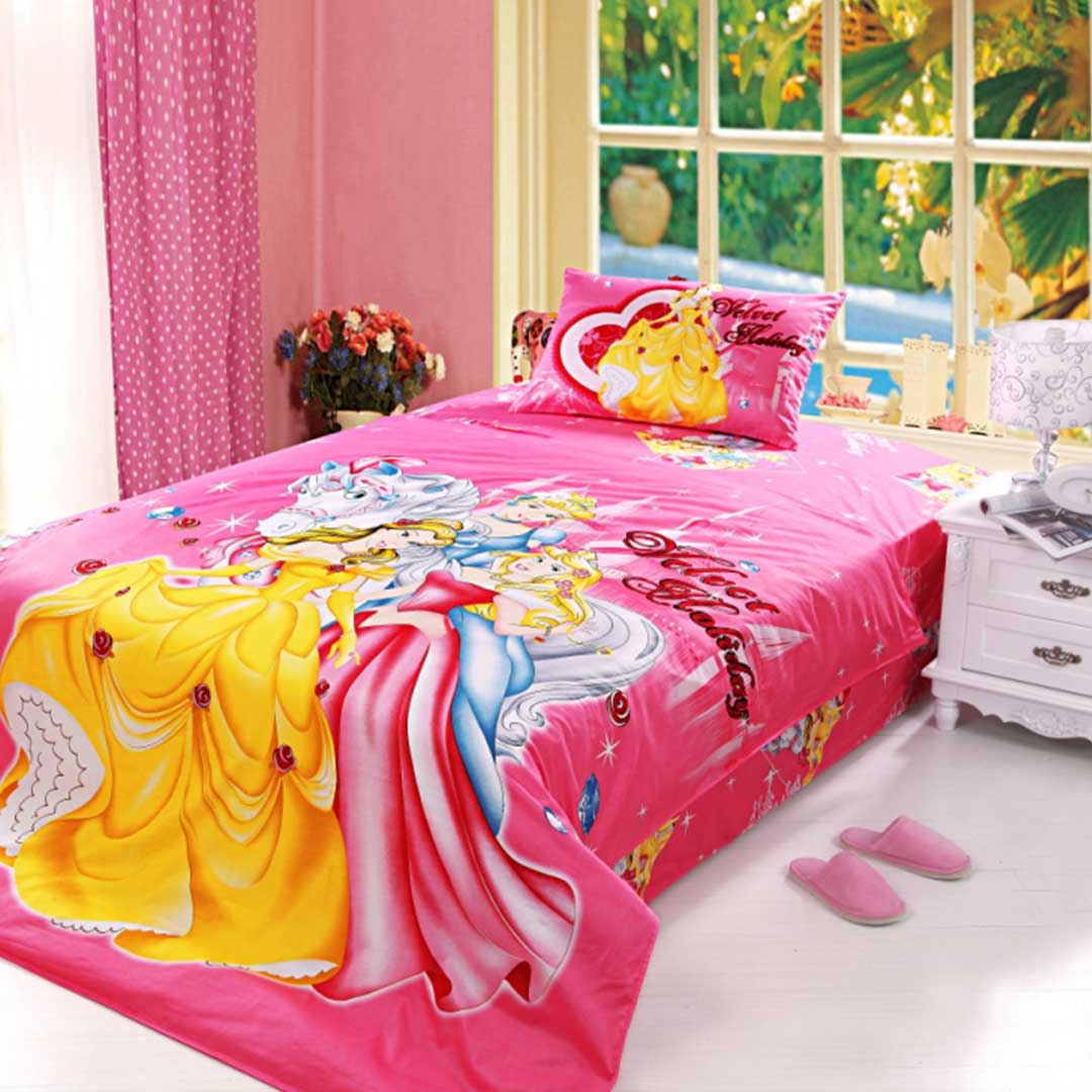 Little girls bedding set 4pcs twin size ebeddingsets for Twin size beds for girls