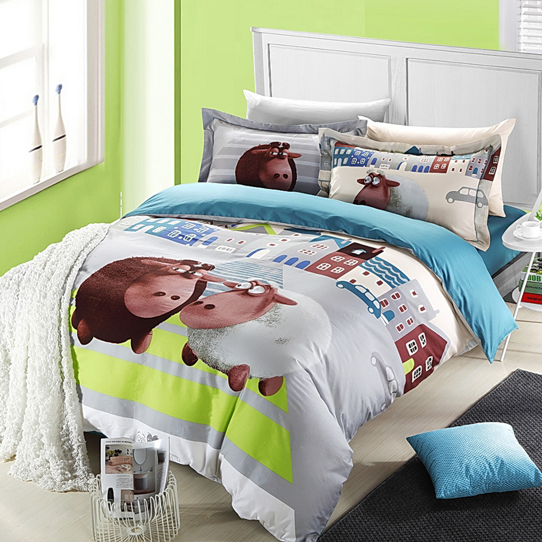 Sheep Cartoon Duvet Cover Sets Ebeddingsets